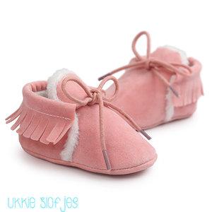 Baby Mocassin Gevoerd Roze