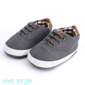 Baby Gympen Oxford Antraciet