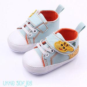Baby Sneakers Giraffe Blauw