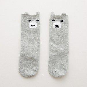 Baby Kniekousen Grey Bear
