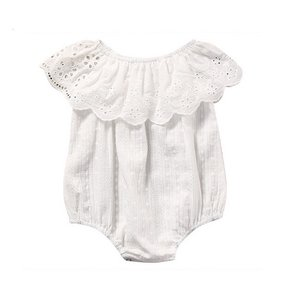 Baby Romper Broderie Wit