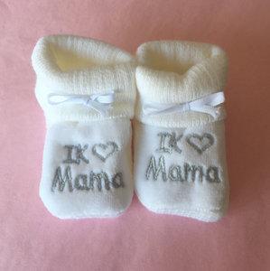 Babyslofjes Newborn I love Mama