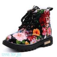 Baby Laarzen Dr Martin met bloemen