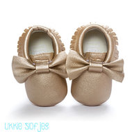 Baby Mocassin Ribbon Gold