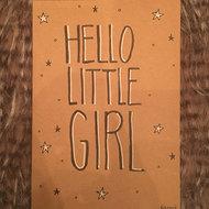 Babykaart Hello Little Girl