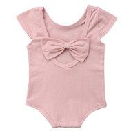 Baby Romper met strik roze