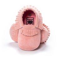 Baby Mocassin Fringe Suede Pink